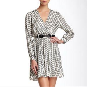 NEW Rachel Zoe Meryl Silk Blend Leather Belt Dress
